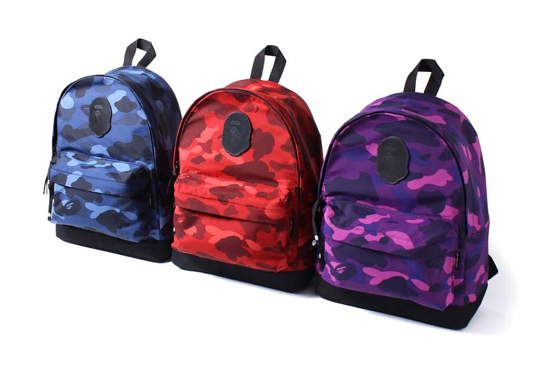 A Bathing Ape Color Camo Day Pack BAPE Backpack Blue Red Purple Black Camouflage Bag 2017 July Release Date Info ny us new york porter cordura