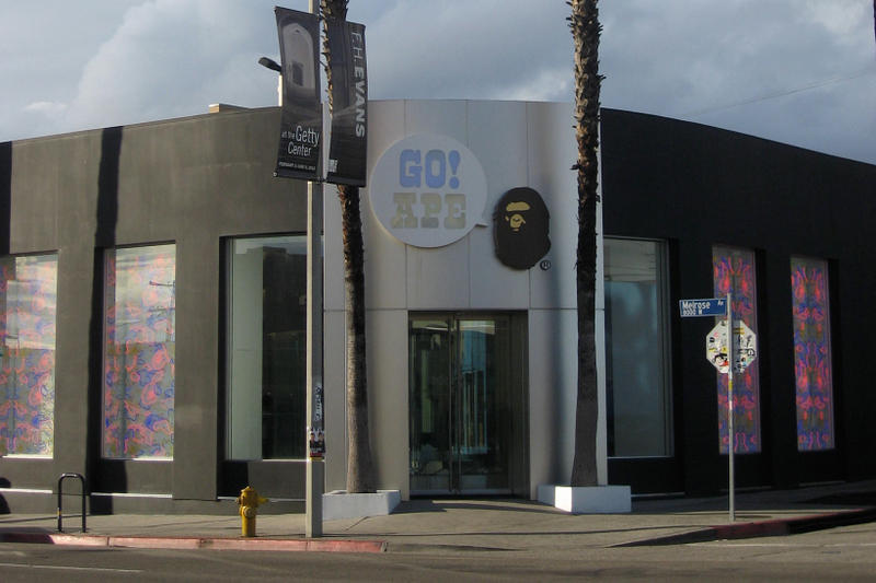 BAPE Los Angeles LA APE CAMO City of Angeles Melrose Ave