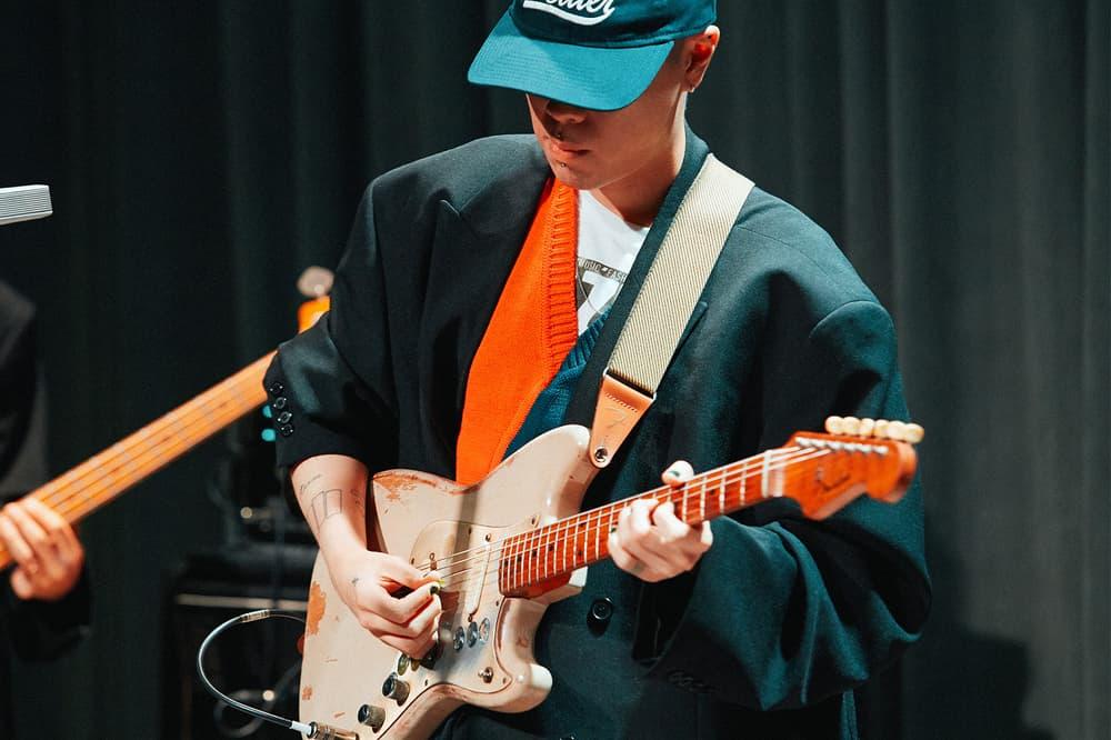 Beats by Dre Luke Wood Hyukoh Interview frontman Hyuk playing guitar