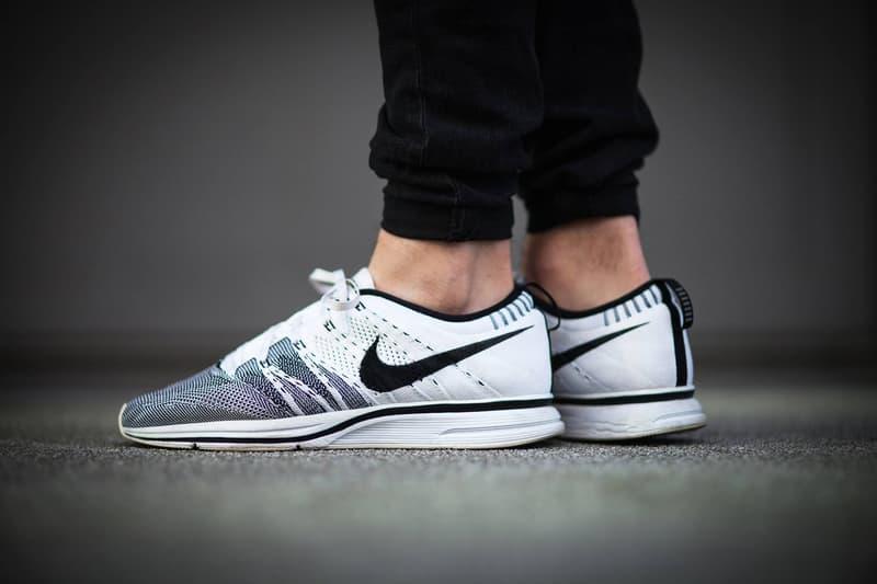 Nike Flyknit Trainer Retro White Black