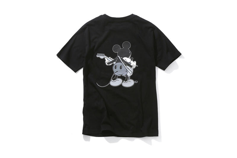 Disney number nine Mickey Mouse T Shirts Tees Black White Guitar 2017 Summer July Release