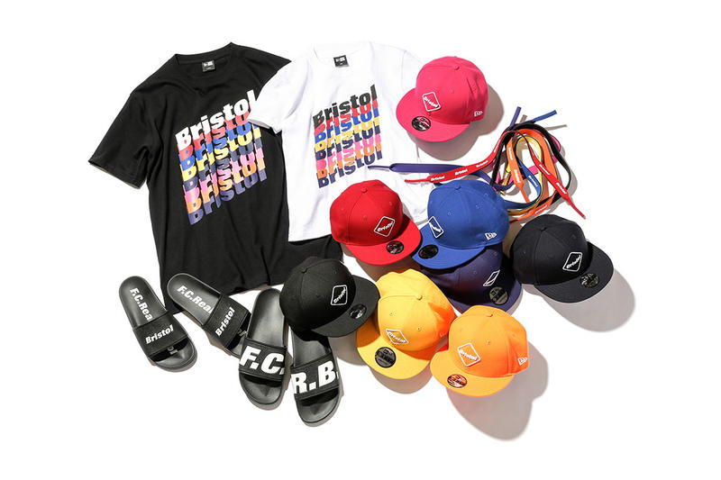 FCRB New Era 2017 Summer Capsule Collection T-shirts Hats Snapbacks Slides