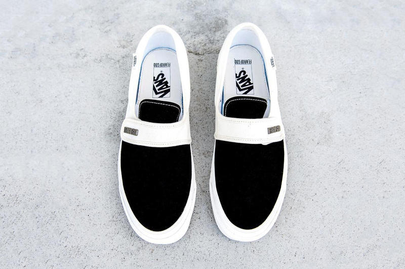 Fear of God Vans Classic Slip On Black White Teaser Sneakers Shoes Footwear 2017 Holiday Release Date Info Jerry Lorenzo