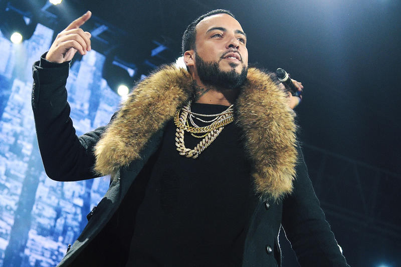 French Montana Max B The Weeknd A Lie Song jungle rules songs mink fur coat jewelry chains stage concert performance