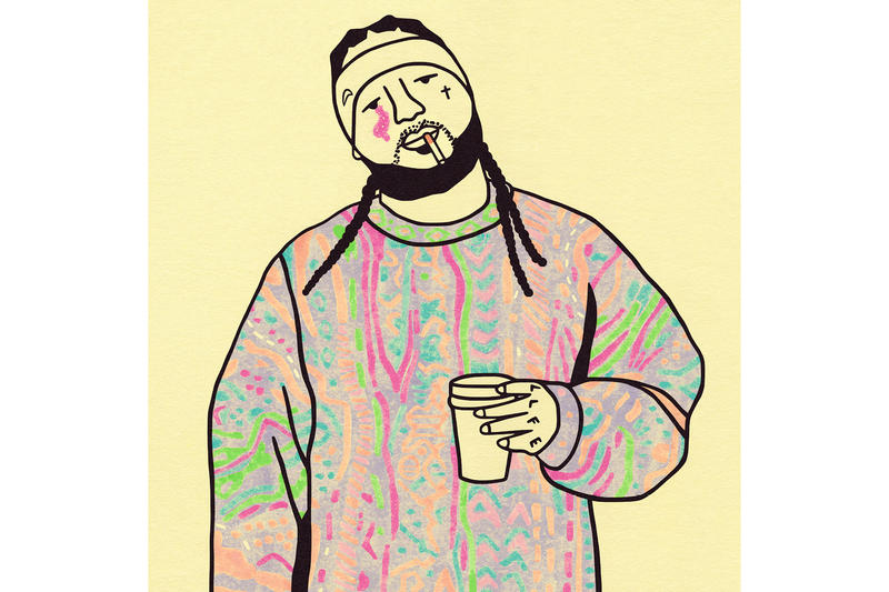 Gangster Doodles Post-It Note Illustrations Art Artwork Rappers A$AP Yams Childish Gambino Biggie Smalls Notorious BIG