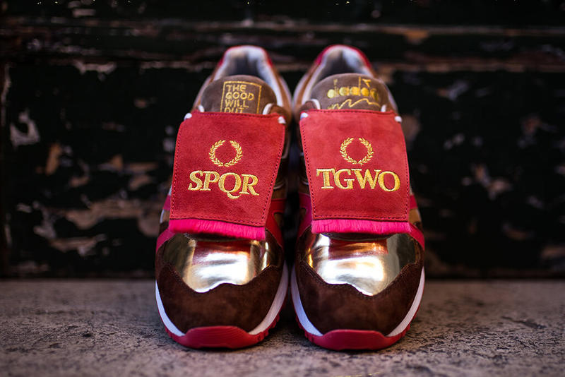 "The Goodwill Out x Diadora ""Rise & Fall of the Roman Empire"" SQPR N9000 rome sneakers shoes"
