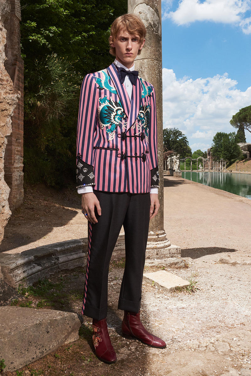 Gucci Cruise 2018 Collection Lookbook Menswear Renaissance rock n and roll