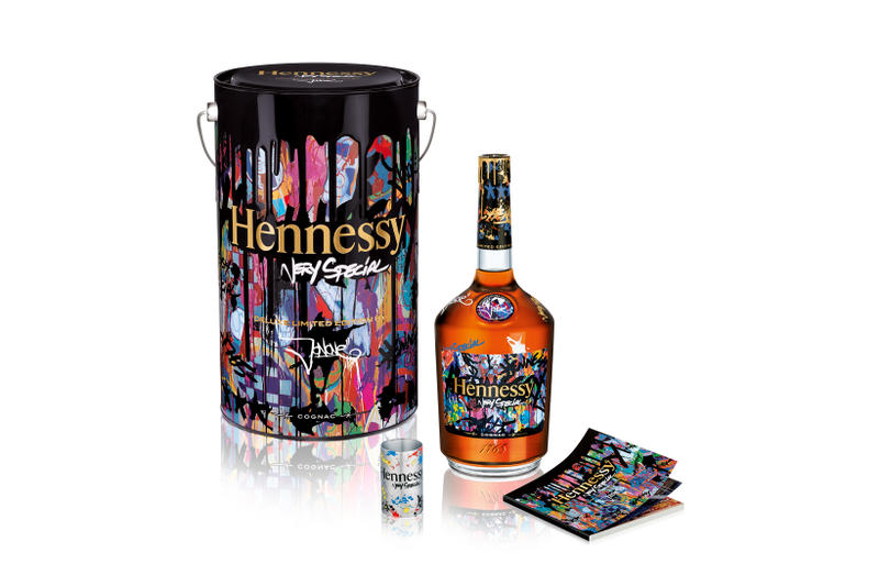 Hennessy Very Special JonOne Limited Edition Bottle Deluxe Edition Paint Can Jigger Sketch Notebook Cognac VS