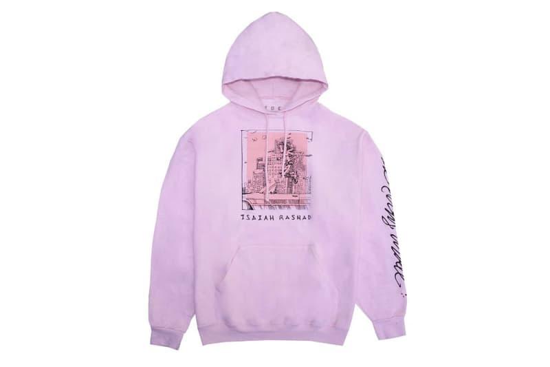 Isaiah Rashad The Sun's Tirade Merch Pink Hoodie Gray Tee