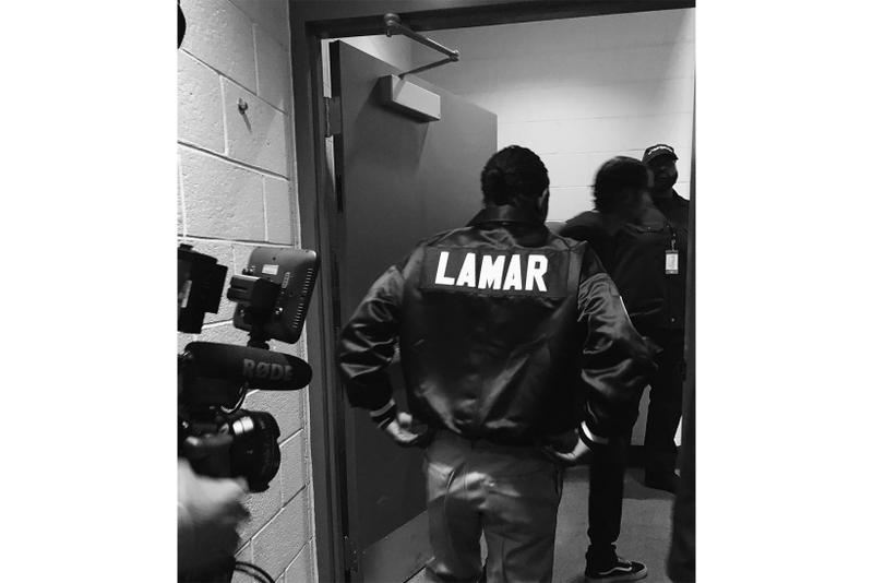 Kendrick Lamar DAMN Tour Custom Fear of God Coaches Jacket 1997 fifth collection jerry lorenzo travis scott concert