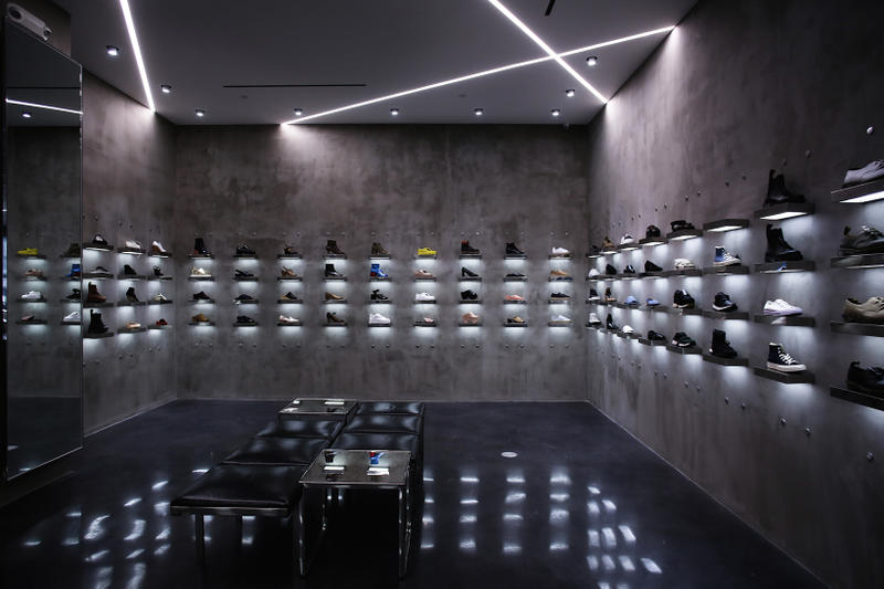 LOIT LA Store Launch Sneaker Wall