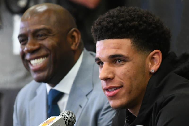 Magic Johnson Lonzo Ball Lakers Saviour LaVar