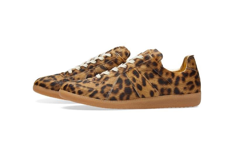 Maison Margiela Replica Leopard Reflective sneakers animal print military end clothing shoes kicks