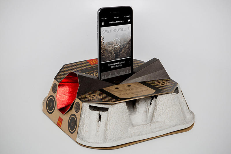 McDonald's Recyclable Boombox Drinks Tray