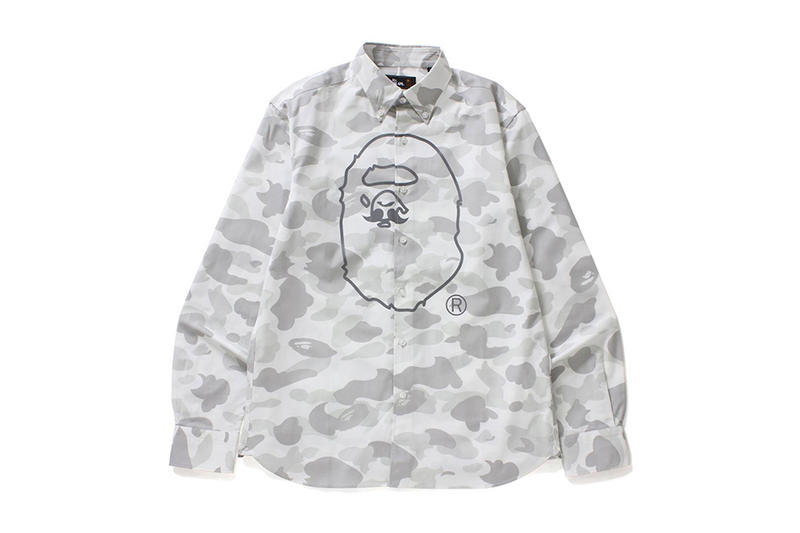 Mr Bathing Ape 2017 Fall Winter Collection BAPE Mustache Sweatshirt T Shirt Button Down Cap Hat Snapback