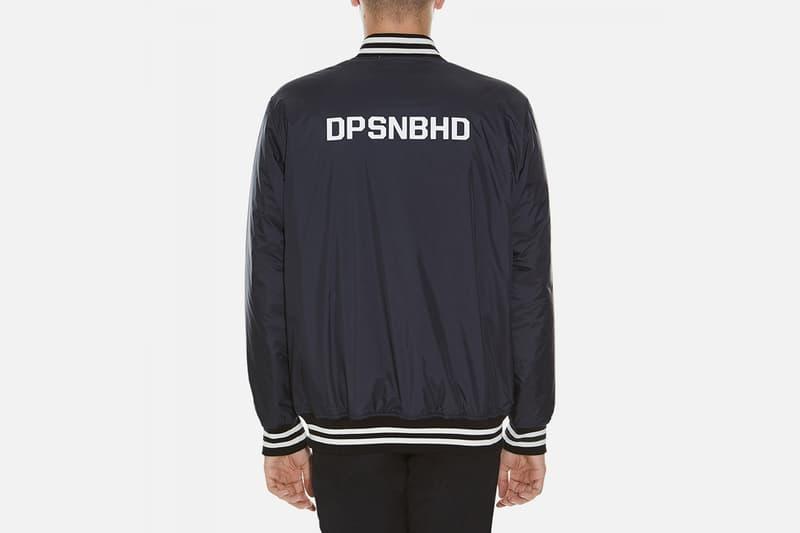 NEIGHBORHOOD x Duppies Collaborative Varsity Jacket Black and White