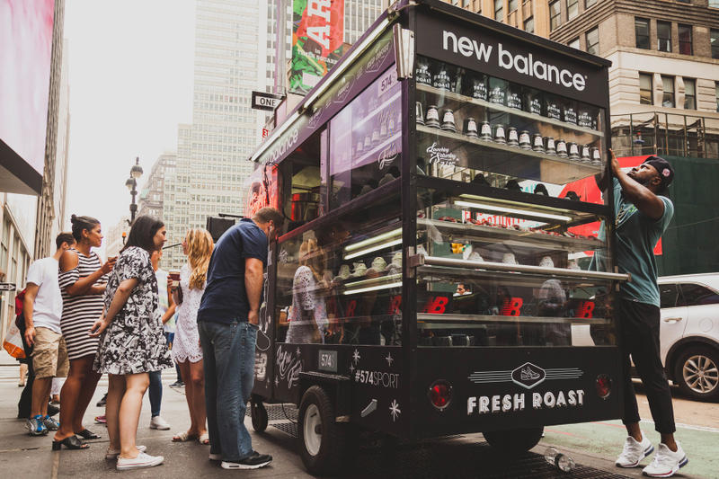 New Balance Premieres the 574 Sport in NYC With Custom Coffee Carts