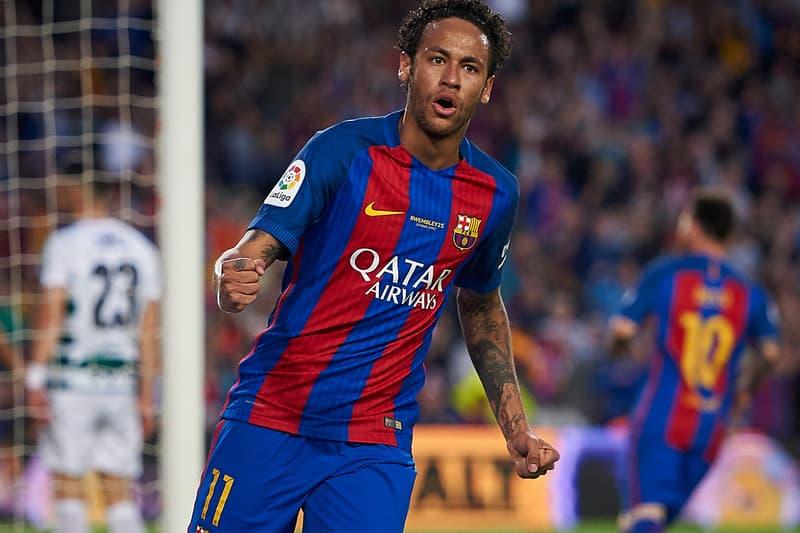 neymar jr fc barcelona goal jersey kit qatar airways la liga SD Eibar Camp Nou Stadium May 21 2017 Spain PSG paris saint germain transfer buyout july messi
