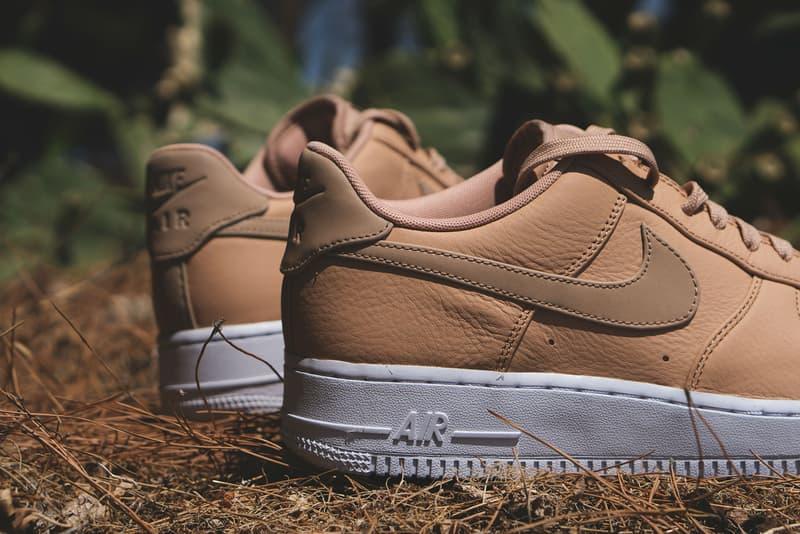 newest b205b 07822 Nike Air Force 1 07 Low Premium Vachetta Tan Leather Sneakers Shoes  Footwear July 2017 Summer