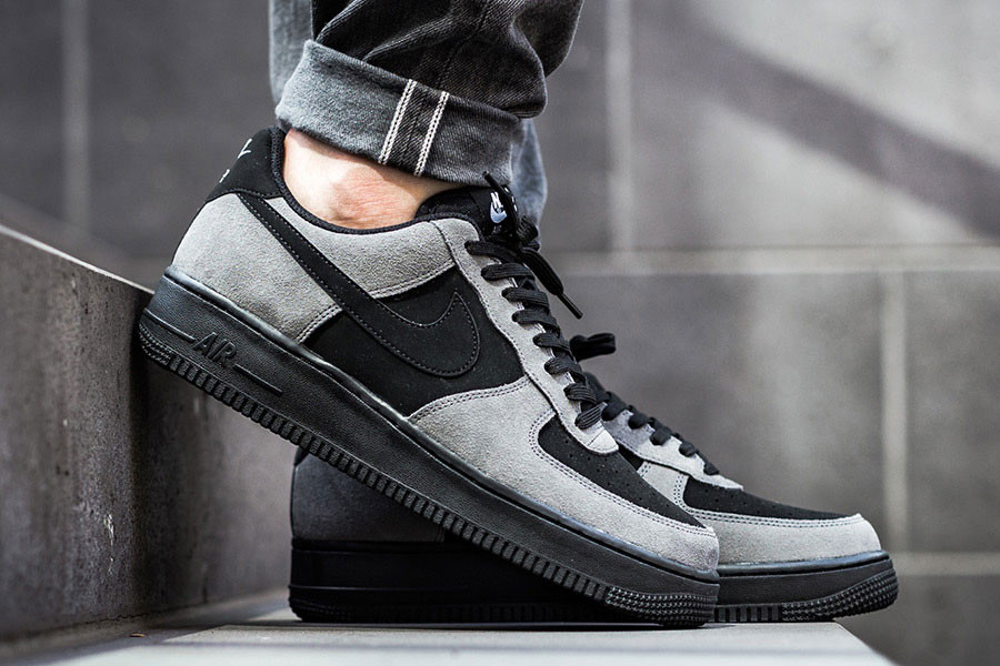 best sneakers 37fc9 8b116 Nike Air Force 1 Low Black and Grey Suede | HYPEBEAST