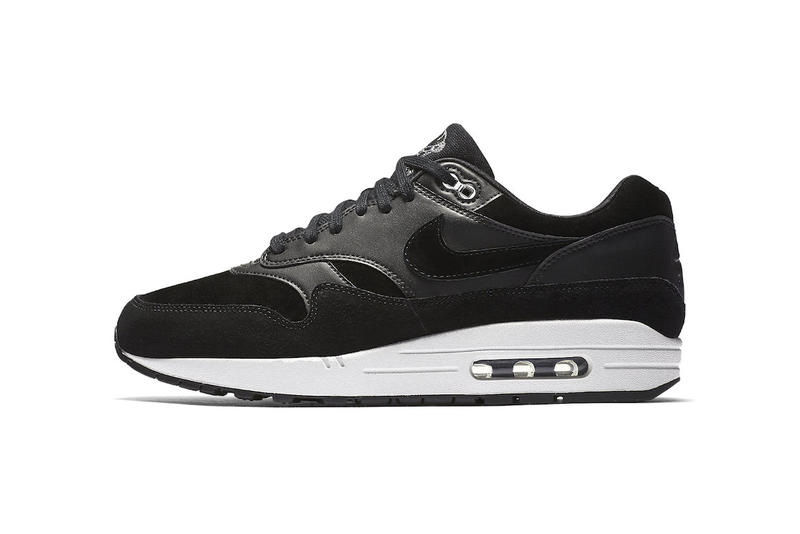 Nike Air Max 1 Skulls 2017 Black Chrome white suede leather 10th Anniversary 2007 Sneakers Shoes Footwear