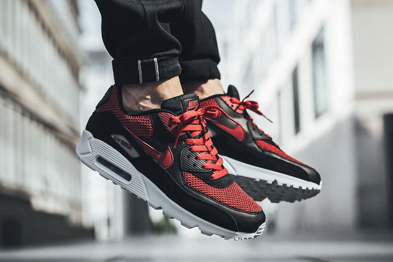 new style 3c67b 5450d Nike Air Max 90 Essential Tough Red Colorway On Feet