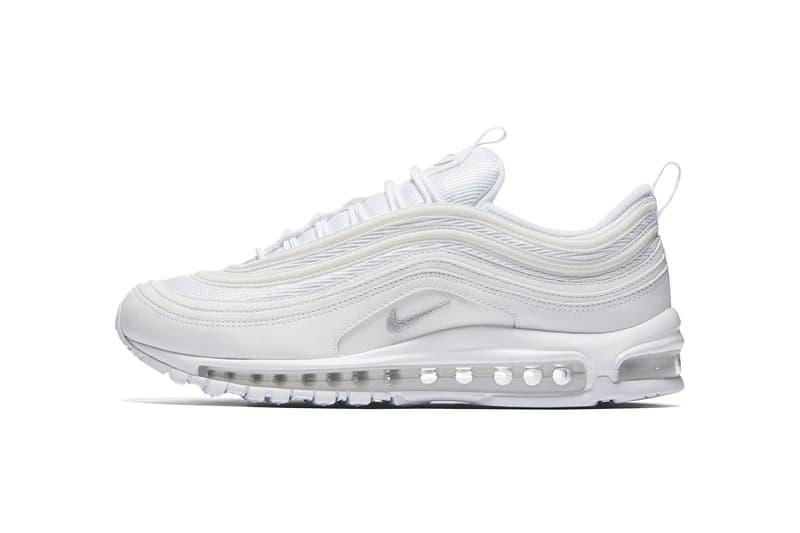 Nike Air Max 97 OG Black Triple White Sneakers Shoes Footwear 2017 August 1 Release Date Info