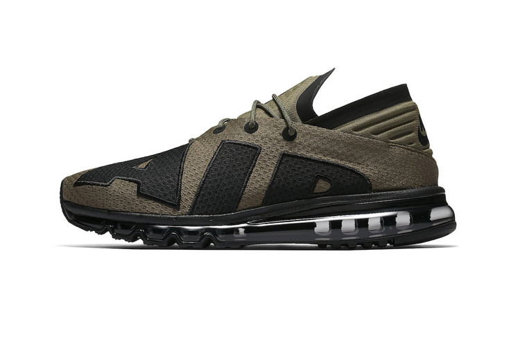 98887ece04 The Nike Air Max Flair Gets Dipped in Black and Olive