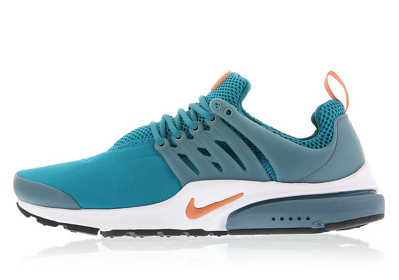 The Nike Air Presto Teal Green Orange Miami Dolphins
