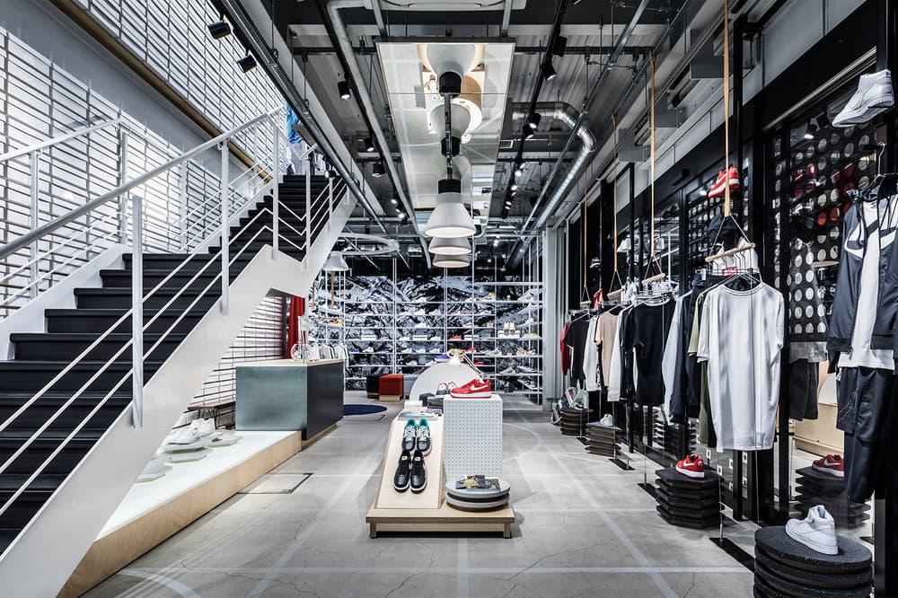 Nike Kicks Lounge Omotesando Japan Sneakers Shoes Footwear Store tokyo store retail inside