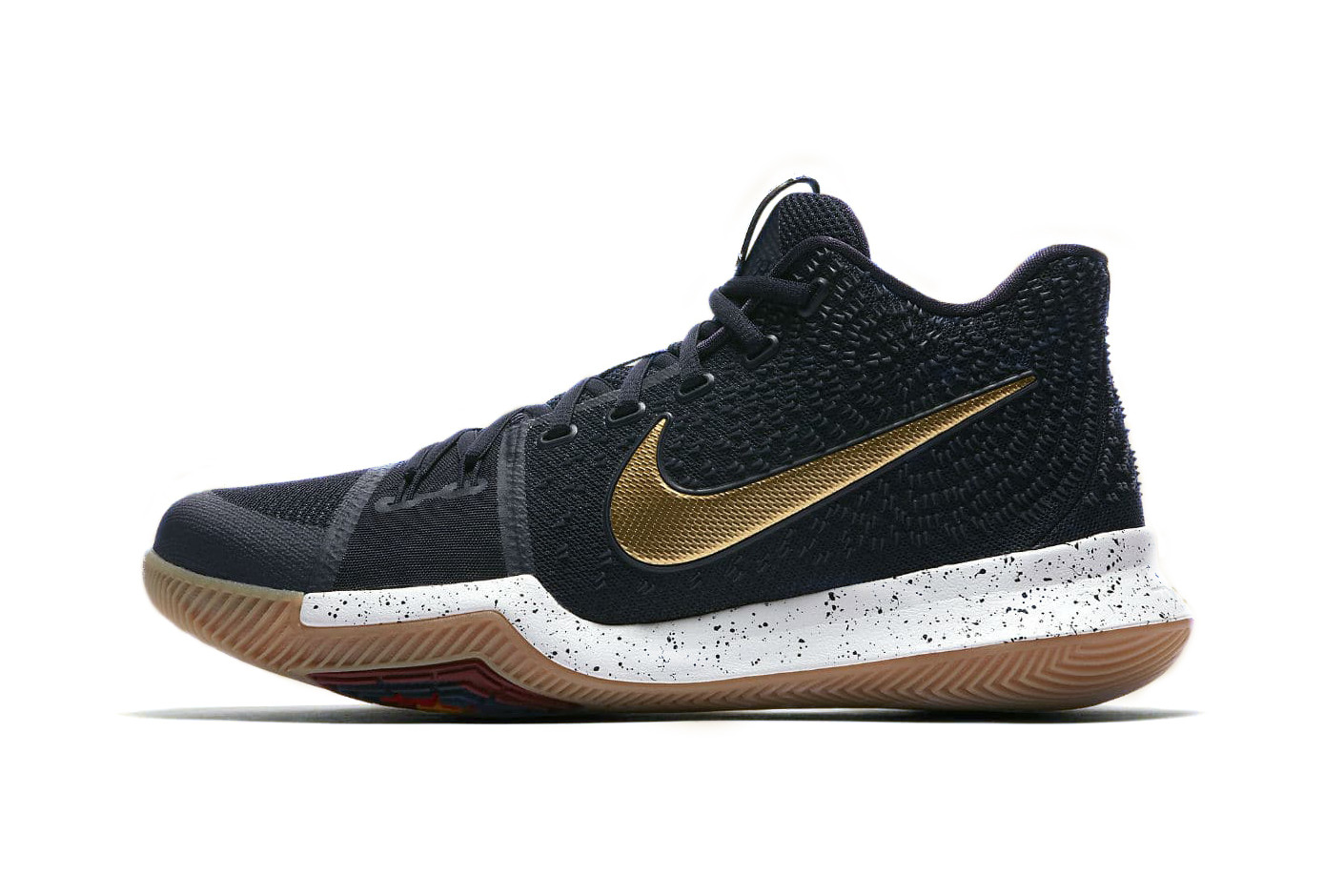 Nike Kyrie 3 in Black, White, and Gold