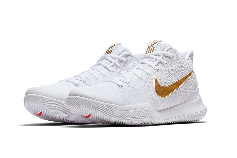 big sale d06bb 150b1 Nike Kyrie 3 Finals White and Gold Swoosh | HYPEBEAST