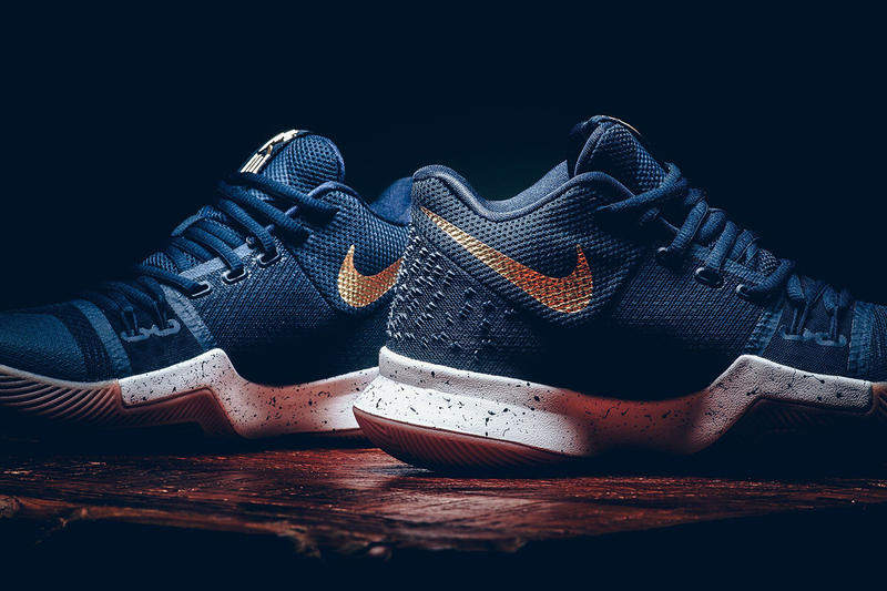 promo code 7bcb1 2610f Nike Kyrie 3 Obsidian Metallic Gold Kyrie Irving Cleveland Cavaliers