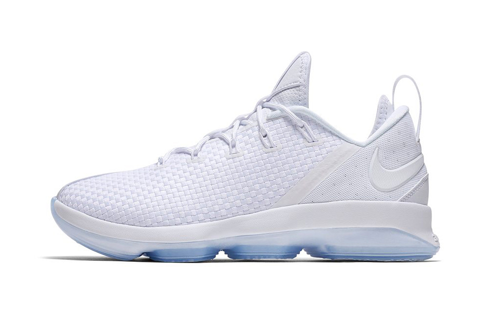Nike LeBron 14 Low White and Icy Blue