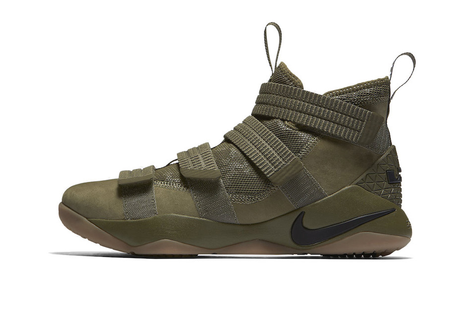 Strap up With This Militaristic Nike LeBron Soldier 11 SFG in Olive 49369ee09
