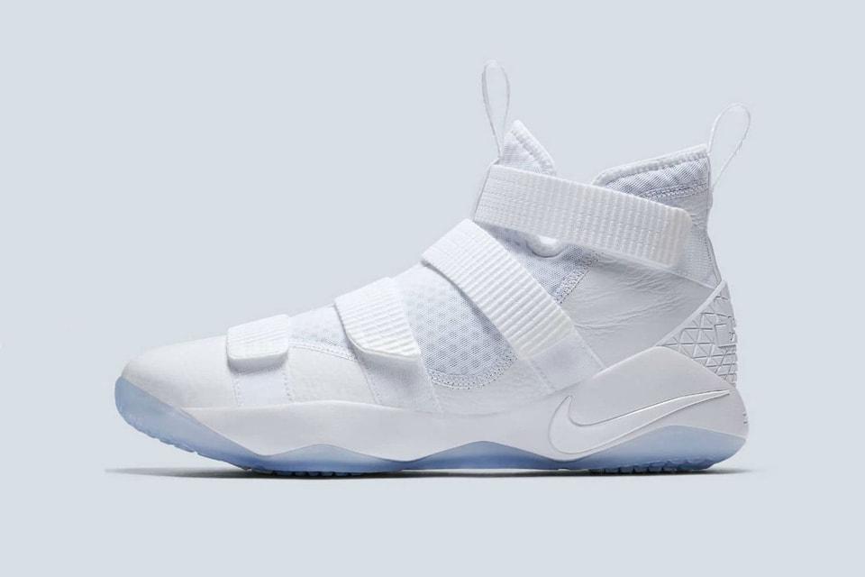 Nike LeBron Soldier 11 Triple White Straps  cd9bb2087