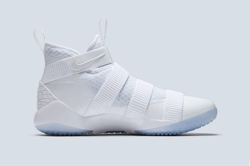 best cheap 26958 b172b Nike LeBron Soldier 11 Triple White Straps | HYPEBEAST
