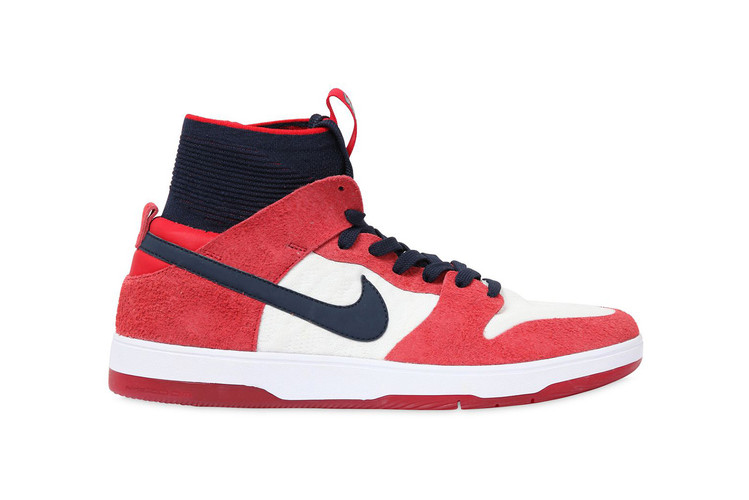 hot sale online 2eb2e 79968 Nike SBs New Dunk High Elite Surfaces in a Patriotic Red, White  Blue