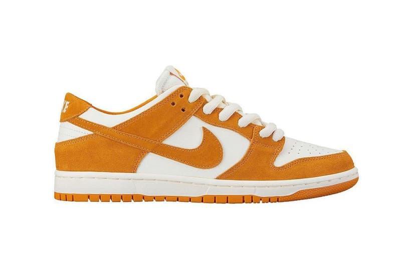 Nike SB Dunk Low Circuit Orange White Skateboarding