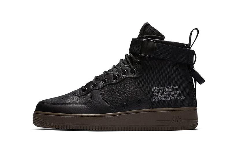 Nike SF AF1 Mid Hazel Black Cargo Khaki Sneakers Shoes Footwear Release Date Info 2017 July 26
