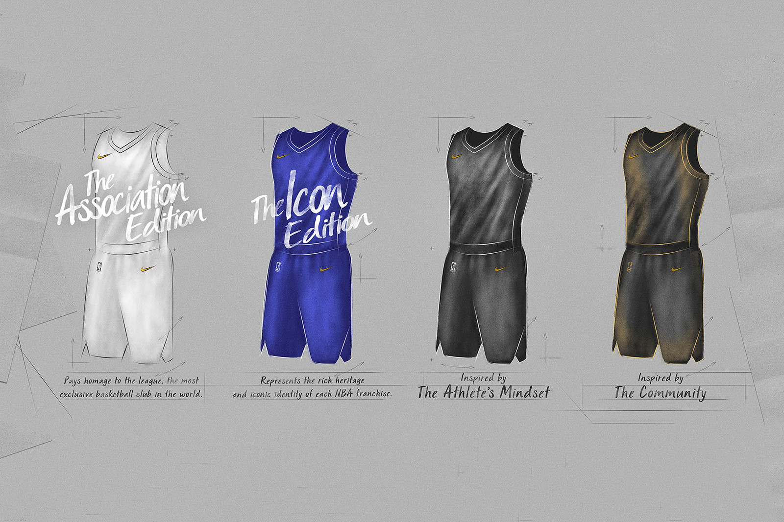 Nike NBA Jersey Technology Jersey Names 2017 2018 Season Association Icon Classic