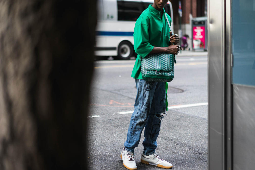 New York Fashion Week Men's Street Style Day 1
