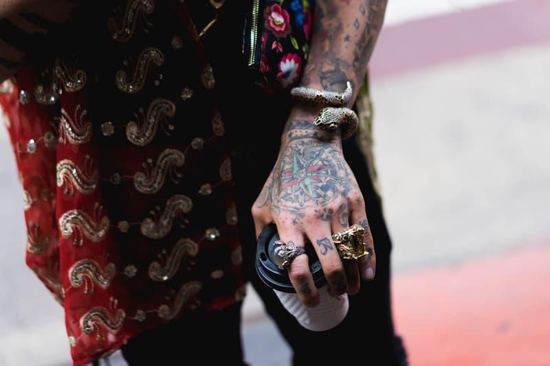 New York Fashion Week Men's Street Style Day 1