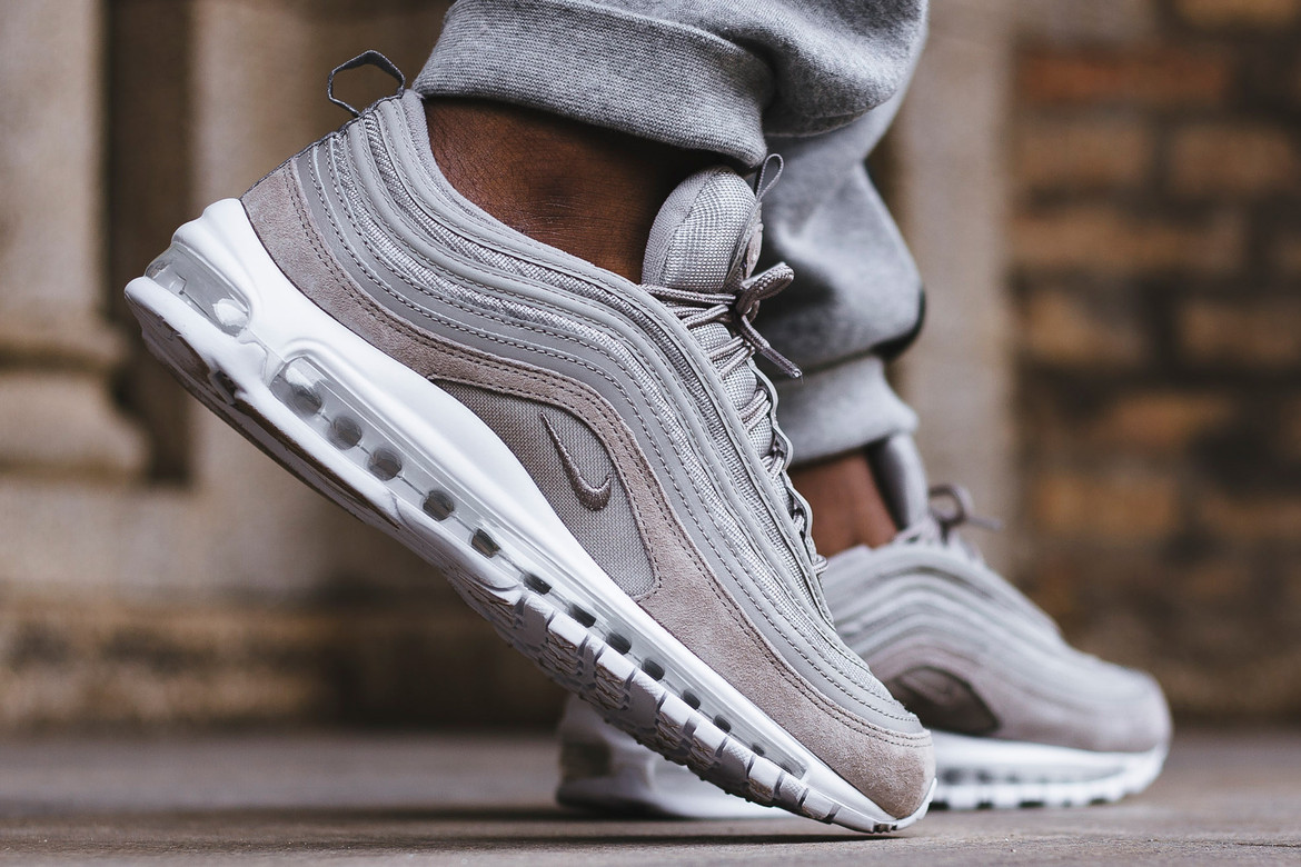 Nike Air Max 97 Navy Black Grey On Feet Look Hypebeast