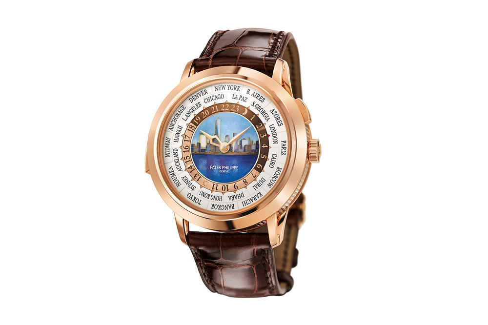 Patek Philippe Reference 5531R World Time Minute Repeater New York 2017 Special Edition Watch New York City Skyline