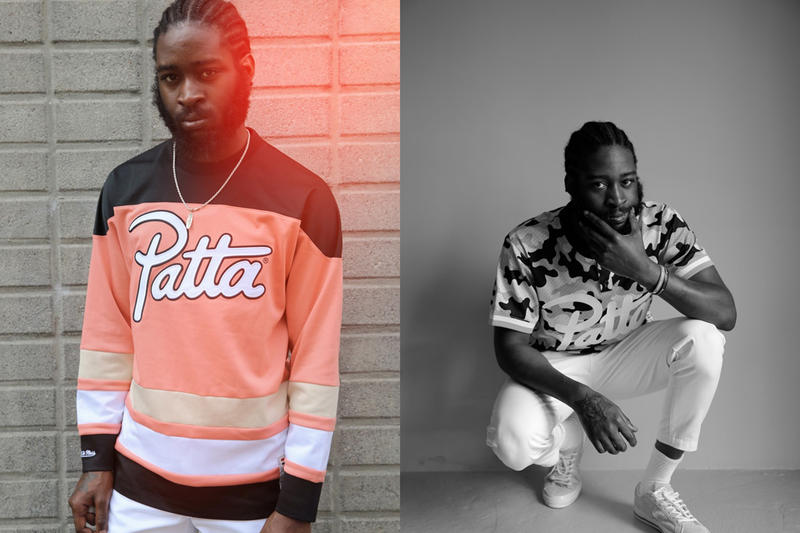 Patta Mitchell and Ness Jacket jersey 2017 summer collection range varsity mesh camo camouflage pink black burnt coral beige