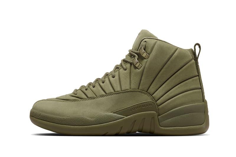c845de828850a1 PSNY Air Jordan 12 Bordeaux Olive Restock Nike SNKRS