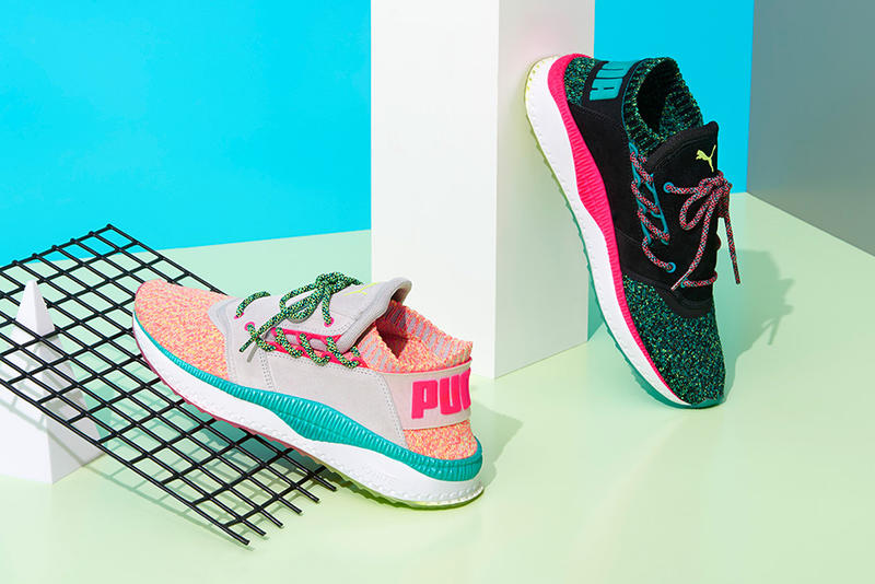 PUMA Tsugi Shinsei 90s Pack Black Grey Sneakers Footwear Shoes 2017 July Release Info Date pink peach knit turquoise blue