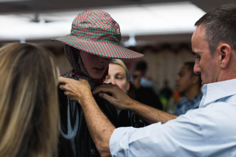Raf Simons 2018 Spring Summer Runway Show Backstage New York Fashion Week Men's