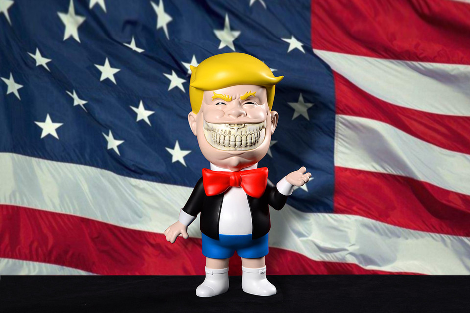 Ron English Unveils His Politically-Driven 'Donald T Rich Grin' Figure